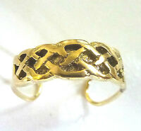 9ct Gold Solid Celtic Pattern  Toe Ring                                   A80606