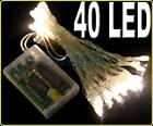 BATTERY OPERATED 40 Warm WHITE LED FAIRY LIGHTS Xmas PARTY WEDDING Portable