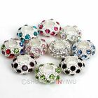 5pcs Crystal Rhinestone Disco Ball European Bead Fit Charms Bracelet High Qualit