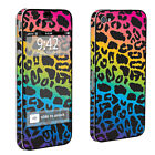 USA Rainbow Leopard Case Decal Vinyl Cover Skin Sticker Apple iPhone 4 / 4s