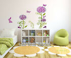 GLITTER HYDRANGEA FLOWER & BUTTERFLIES wall sticker for home kids room/ nursery