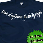 Powered by Demons Guided by Angels Collar Bone Tattoo T-Shirt