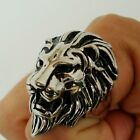 Cool Huge Lion Men's 316L Stainless Steel Ring S7-14#