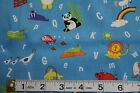 FAT QUARTER/PATCHWORK FABRIC -ABC ZOO - TOSSED ANIMALS/ALPHABET by NUTEX