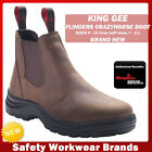 KingGee Flinders Crazyhorse Work Boot Steel Toe Cap Safety CAPPED Leather K25560