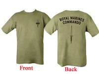 New  Royal Marines Commando T SHIRT ( US Marines SAS Army USMC SBS