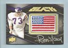 RON YARY 2009 UPPER DECK BLACK USA FLAG PATCH AUTOGRAPH AUTO /75