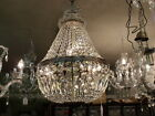A/B VINTAGE 5 LIGHT DOME BASKET K-9 CRYSTAL CHANDELIER CHANDELIERS FRENCH EMPIRE