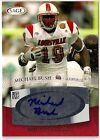 2007 MICHAEL BUSH SAGE *RED* ROOKIE AUTO LOUISVILLE CARDINALS CHICAGO BEARS
