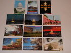 Lot of 12 Postcards of Washington D.C. Buildings, US Capitol, Lincoln Memorial +