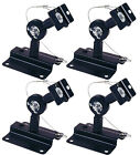 4-Pack Heavy Duty Speaker Wall Ceiling Mount Brackets Surround Sound Black (New)