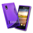 TPU Gel Silicone Case Skin Cover for LG Optimus L5 / E610 / E612  in Purple