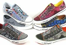 NEW! Men ED HARDY Designer Low Top Casual Shoe Oakland Dakota Lowrise LR TATOO