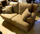 Schots Laura Contemporary 2 Seater Fabric Sofa Lounge - Olive Green