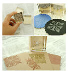 New Scrapbooking DIY Snowflake Crystal Square Pattern Mounted Rubber Stamps