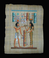 Egyptian Papyrus genuine hand painted Ramses and Hathor  43x33cm