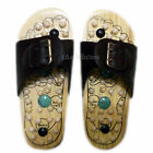 New Healthy Reflexology Acupuncture Foot Point Wooden Bead MASSAGE SANDALS Shoes