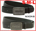 Nixon Men's Wordmark Interchangeable Raw Icon Surf Skate Snow Leather Belt Strap