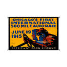 "Chicago 500 Speedway Park Formula 1 racing Glicee printed canvas 25x38"" w/dowels"