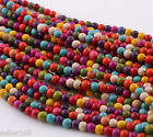 300 pcs 4mm Mixed Color Turquoise Cross Howlite Spacer Loose Beads Charms