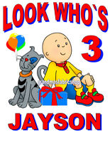 New Caillou Custom Personalized Birthday T Shirt #2 party favor gift