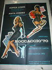 BOCCACCIO 70 / ORIGINAL DANISH MOVIE POSTER (SOPHIA LOREN & ANITA EKBERG)
