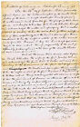 Francis Scott Key, Legal Brief written by Key, signed twice in text, dated 1825