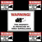HOME SECURITY SPY CCTV VIDEO CAMERAS IN USE PARTY STORE WARNING SIGN+STICKER LOT