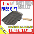HARK Heavy Duty Cast Iron Oblong Skillet wITH Folding Handle Grill BBQ pan