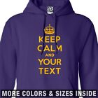 Custom Keep Calm HOODIE Personalized and Carry On Sweatshirt All Sizes & Colors