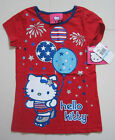 Hello Kitty Kids T-Shirt, Little Girl Graphic Red Tee NWT Size 5