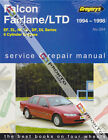 GREGORYS SERVICE REPAIR MANUAL FORD FALCON EF EL FAIRLANE NF NL LTD DF DL