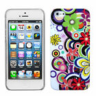 For Apple iPhone 5 5S Ultra Slim HARD Phone Case Snap On BACK Cover Flower Disco