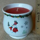 3 1/2 inch scented candle ceramic snowman Christmas pot