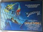 RARE UK / German ISSUE SUPERMAN III Movie FRAMED SUBWAY POSTER PAINTED GRAPHICS