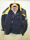 MEN'S MARKER SNOWBOARD SKI JACKET NAVY & YELLOW SZ SM USED IN EXCELLENT COND