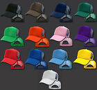 NEW CLASSIC SOLID COLOR TRUCKER HAT BASEBALL CAP MANY COLORS AVAILABLE