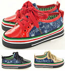 New Boys Girls Kids Casual Canvas Deck Pump Shoes Low Trainers In UK Sizes 7-11
