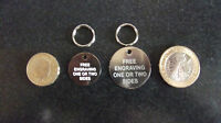 DOG / CAT PET ID TAGS / DISCS. FREE ENGRAVING AND SPLIT RING