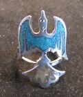 Sterling Silver Fire Bird Ring with Turquoise