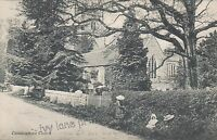 Chiddingstone, Kent, St. Mary's Church, early black and white postcard, unposted