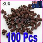 Brand NEW 100X Sanding Bands For Nail Drill Bits #80 Pedicure Manicure Kits Art