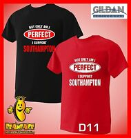 SOUTHAMPTON T SHIRT Not Only Perfect football sport fc funny T SHIRT small - 5XL