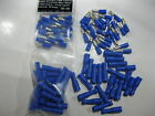 CRIMP TERMINALS 25 PAIRS BLUE BULLETS FULLY INSULATED