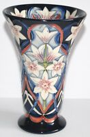 1st Quality Moorcroft - RARE Exclusive LIBERTY Vase  Very Pretty - 15.5cm High