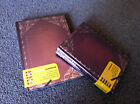 Set of 2 Vintage notebook journal retro diary memory hard cover Travel size new