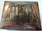 1933 Chicago World's Fair Silver Metal Box Wooden Liner - Shure Company