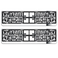 2X CHROME NUMBER PLATE HOLDER SURROUNDS FOR SUBARU IMPREZA JUSTY LEGACY