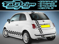 6m CHECKER CAR GRAPHICS STICKERS DECALS STRIPES FORD FIAT RENAULT VAUXHALL BMW