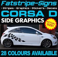 VAUXHALL CORSA D CHECKER CAR GRAPHICS STRIPES DECALS STICKERS VXR SXI 1.2 1.4 C